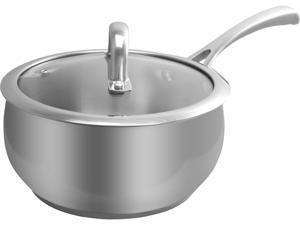 Oster Derrick 2 Qt Sauce Pan W/Lid - Apple Shape - Silver