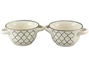 Crock-Pot Mathiston 2 Pack 27 oz. Ceramic Soup Bowl Set, White