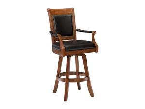 Hillsdale Furniture Kingston Swivel Leather Back Barstool