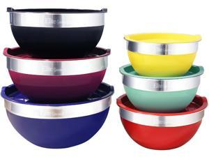 Elite 12 Piece Elite Gourmet Mixing Bowl, Multicolor