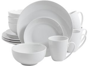 Gibson Ogalla 16 Piece Dinnerware Set in White