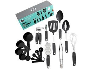 Gibson Home Chefs Better Basics 18 Piece Gadgets & Tools Combo Set, Black