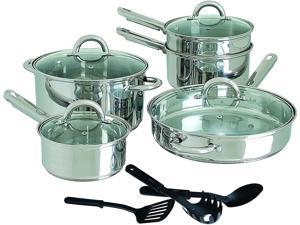 Gibson Home Abruzzo 12 Piece Stainless Steel Cookware Set