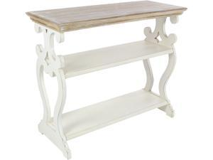Cedar Crest 306750 White Farmhouse Wood Console Table