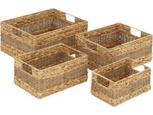 Cedar Crest 306796 Set of 4 Beige Sea Grass Natural Storage Basket