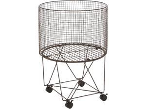 Cedar Crest 301564 Bronze Farmhouse Metal Storage Cart