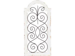 Cedar Crest 301900 White Vintage Ornamental Wood Wall Decor