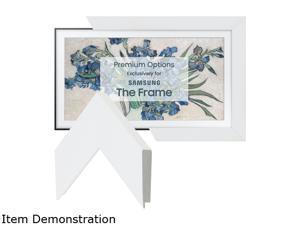 """Frame My TV Gloss White Frame for 55"""" Samsung """"The Frame"""" TV"""