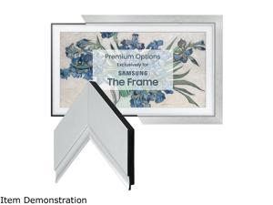 "Frame My TV Contemporary Silver Frame for 43"" Samsung ""The Frame"" TV"
