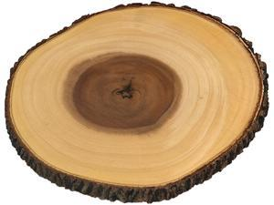 Lipper International Inc Acacia Tree Bark Footed Server for Cheese, Crackers, and Hors D'oeuvres, Large