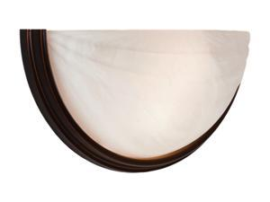 Access Lighting Crest Wall Sconce - 2 Light Oil Rubbed Bronze Finish w/ Alabaster Glass