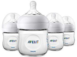 Philips Avent Natural Baby Bottle, Clear, 4 oz., 4pk, SCF010/47