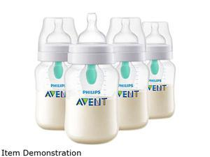 Philips Avent Anti-colic Baby Bottle with AirFree Vent 9 oz., 4pk, SCF403/44