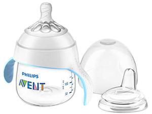 Philips Avent My Natural Trainer Sippy Cup, Clear, 5 oz., 1pk, SCF262/03