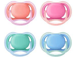 Philips Avent Ultra Air Pacifier, 6-18 Months, Various Colors, 2-pack, SCF244/23