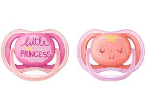 Philips Avent Ultra Air Pacifier, 6-18 Months, Pink/Peach, Fashion Decos, 2-pack, SCF343/22