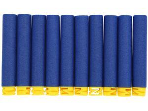 100pcs/bag Refill Soft Foam Bullet Darts for Blaster Kid Toy Gun Gift - 100pcs 10 Colors Toy Gun Soft Refill Bullets Darts EVA Foam for Elite Series (Dark Blue)
