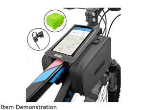 "VANGOGO Bike Front Frame Bag, Top Tube Storage Bag, Handlebar Rack Bag with Phone Holder & Waterproof Phone Bag Fits Screen Below 6.2"""