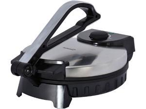 """Brentwood TS-128 Electric Tortilla Maker Non-Stick, 10"""", Brushed Stainless"""