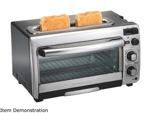 Hamilton Beach 2-in-1 Countertop Oven and Toaster Combination, Stainless Steel