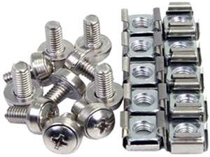 4XEM 4XM5CAGENUTS 4XEM 50 Pkg M5 Rack Mounting Screws and Cage Nuts For Server Racks/Cabinets - Rack Screw - Philips - Stainless Steel