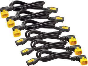 1.8m Power Cord Kit 6ea Locking C13 To C14 90deg North America