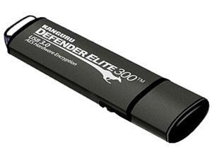 Kanguru Defender Elite300 8GB FIPS 140-2 Certified, SuperSpeed USB 3.0 Flash Drive 256bit AES Encryption Model KDFE300-8G