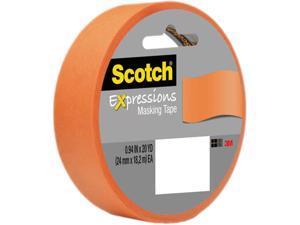 """Scotch Decorative Masking Tape 1""""X 20 Yards-Orange"""