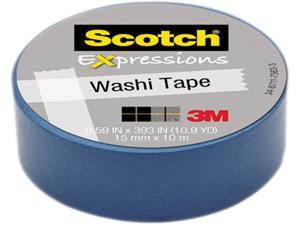 "3M Washi Tape .59""X393"" (15mmx10m)-Blue"