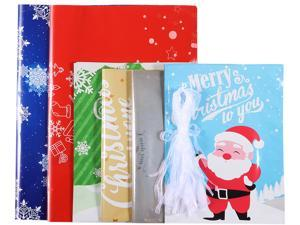 Cabilock 30PCS Christmas Gift Bags Assorted Styles Christmas Gift Wrapping Goodie Bags Favor Pouches for Xmas Party Wedding
