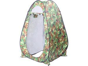 Single Person Portable Bathroom Tent Camouflage with a Handbag for Outdoor