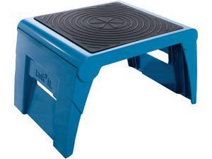 Cramer Industries Inc. 50051PK63 Folding Step Stool, 250lb Cap, 14w x 11 1/4d x 9 3/4h, Blue