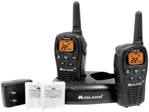 Midland 2-Way Radio with 22 Channels Value Pack, Black LXT500VP3