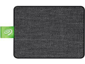 Seagate Ultra Touch SSD 500GB External Solid State Drive Portable - Black USB-C USB 3.0 for PC MAC and Lynx for Android, Mylio and Adobe (STJW500401)
