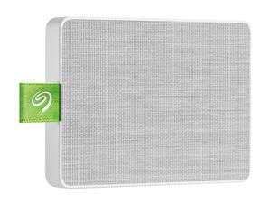 Seagate Ultra Touch SSD 1TB External Solid State Drive Portable - White USB-C USB 3.0 for PC MAC and Lynx for Android, Mylio and Adobe (STJW1000400)