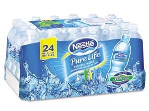 Nestle 101264 Waters Pure Life Purified Water, 0.5 liter Bottles, 24/Carton, 78 Cartons/Pallet