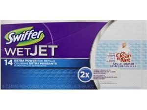 "Swiffer WetJet System Refill Cloths 11.3"" x 5.4"" Extra Power White 14/Box 81790"