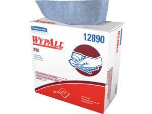 WypAll X90 Extended Use Cloths (12890), Reusable Wipes POP-UP BOX, Blue Denim, 5 Boxes / Case, 68 Sheets / Box, 340 Sheets / Case