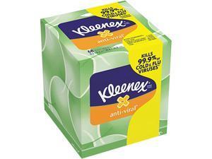 Anti-Viral Facial Tissue, 3-Ply, White, 60 Sheets/Box, 27 Boxes/Carton 49978CT