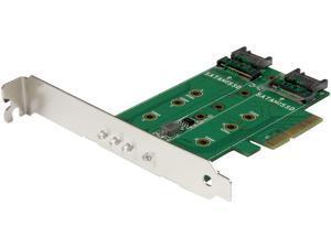 StarTech.com PEXM2SAT32N1 M.2 Adapter - 3 Port - 1 x PCIe (NVMe) M.2 - 2 x SATA III M.2 - SSD PCIE M.2 Adapter - M2 SSD - PCI Express SSD