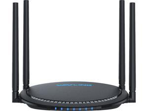 Wavlink AC1200 Dual-band Smart Wi-Fi Router with Touchlink, 4 LAN Ports with One USB port, 4 High Gain Omni Directional Antennas, Smart APP Control, WPS Easy Set Up, Smart LED Indicator