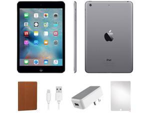 Refurbished Apple iPad Mini 16 GB Space Gray - IPADMB16-BUNDLE - Space Gray, WiFi Only, Case and Tempered Glass Screen Protector Included. (A1432, MD528LL/A)