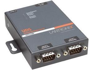 Lantronix ED2100002-01 Lantronix 2-Port Secure Serial (RS232/ RS422/ RS485) to IP Ethernet Device Server; Up to 256-bit AES encryption; SSH/SSL/TLS Enterprise Security with PKI; International 110-240