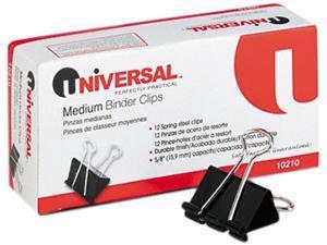 United Stationers UNV10210 Binder Clip-12PK MEDIUM BINDER CLIP