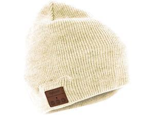 Tenergy Basic Knit Wireless Hands-Free Bluetooth Beanie with Built-in Speakers - Cream