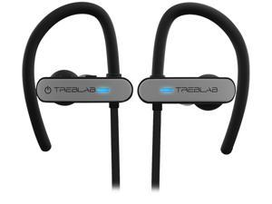 TREBLAB XR800 - Premium Sport Earphones Bluetooth - Secure-Fit IPX7 Wireless Waterproof Earbuds for Running & Workout. Top True-HD Stereo Sound, Noise Cancelling, Microphone, 2019 Sport Headphones