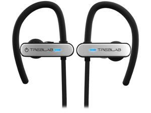 TREBLAB XR800 Bluetooth Headphones, Best Wireless Earbuds for Sports, Running, Gym Workouts (2019 Upgraded) IPX7 Water Resistant, Sweatproof, Secure-Fit. Noise Cancelling Earphones with Mic (White)