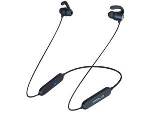 TREBLAB N8 – Magnetic Neckband Bluetooth Earphones | 7H Playtime, Lightweight, IPX5 | Noise Canceling Wireless Headphones w/Mic | Magnetic Bluetooth Earbuds for Running, Workout, Sports, Gym (Black)