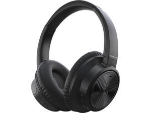 TREBLAB E3 (2020) - Active Noise Cancelling Headphones, Bluetooth 5.0 | Over Ear Bluetooth Headphones with Microphone for Work, Travel, Sport (Black)