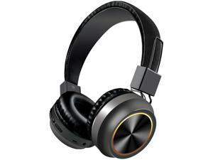 Bagilaanoe LED Wireless Headphones Bluetooth 5.0 Headset Foldable Stereo Over Ear Earphones